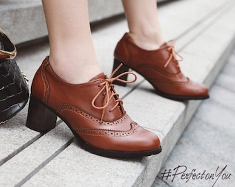 marked MAB studio Bologna EU size 36 Vintage Oxford woman shoes handcrafted Italian vintage shoes new unused leather two colors shoes
