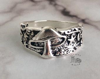 Ring for Men and Women Plant Ring Punk Ring Hippie Ring Boho Ring Mushroom Ring Unique Creative Fun Ring Mushroom Jewelry Gift Idea