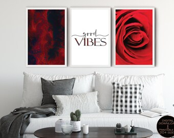 Red Office Decor Etsy
