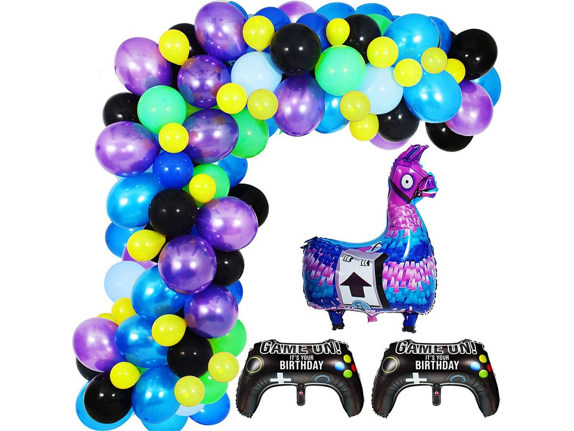 Video Game Party Balloon Garland Kit 113PCS 12Inch Balloon image 0