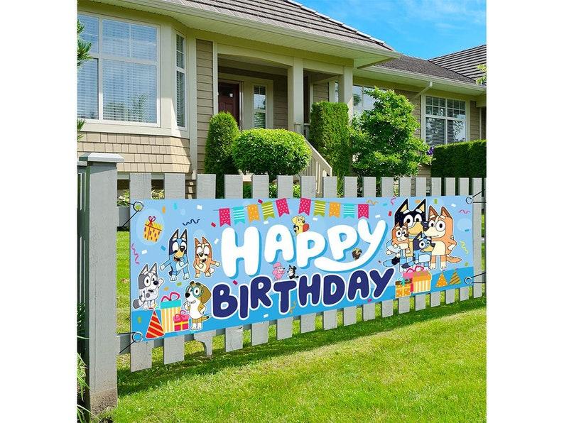 Bluey Themed Birthday BannerBluey Yard Sign Happy image 0