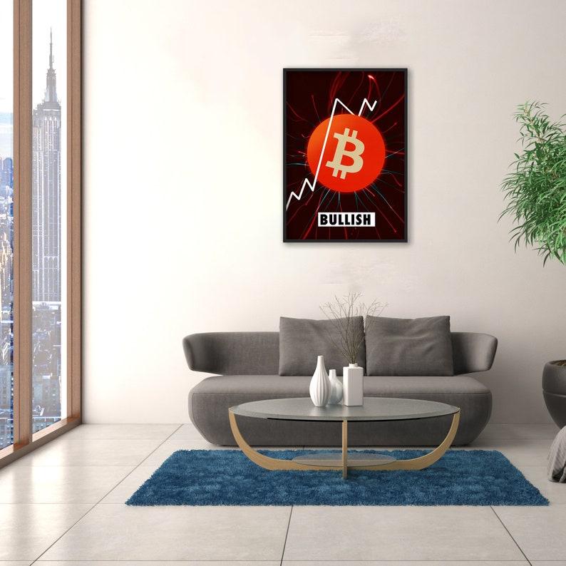 Bitcoin Wall Art Bullish On Bitcoin Poster
