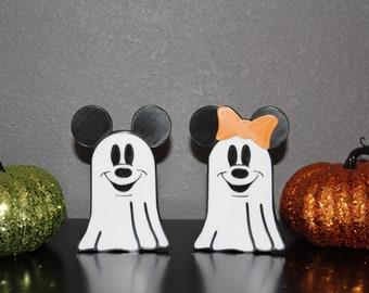 Halloween Mouse Pumpkins Ghost Beware Graffiti Gift Mice Minie Mickey Love Heart decor funny wall art decal stickers Baseboard Kids