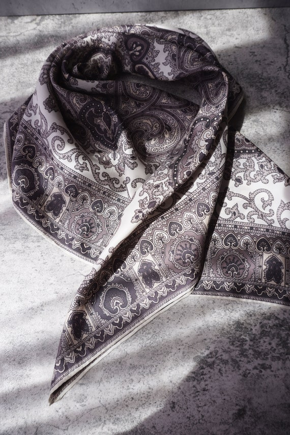 90's Vintage baroque style scarves made in Japan.