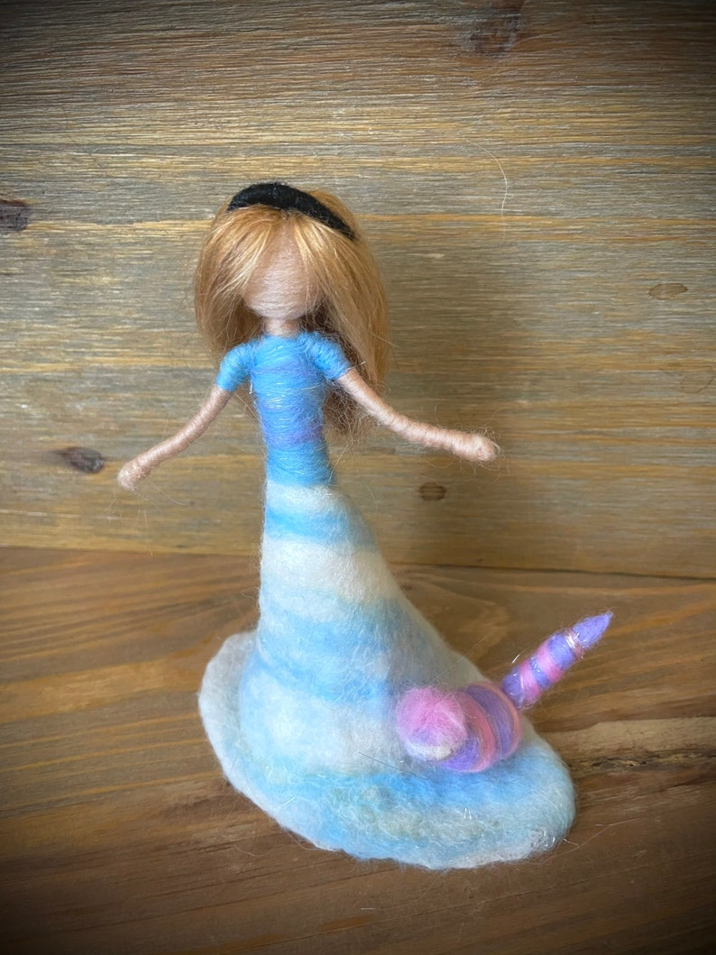 Wool Art Doll Personalaized gift for her Felted Alice in Wonderland