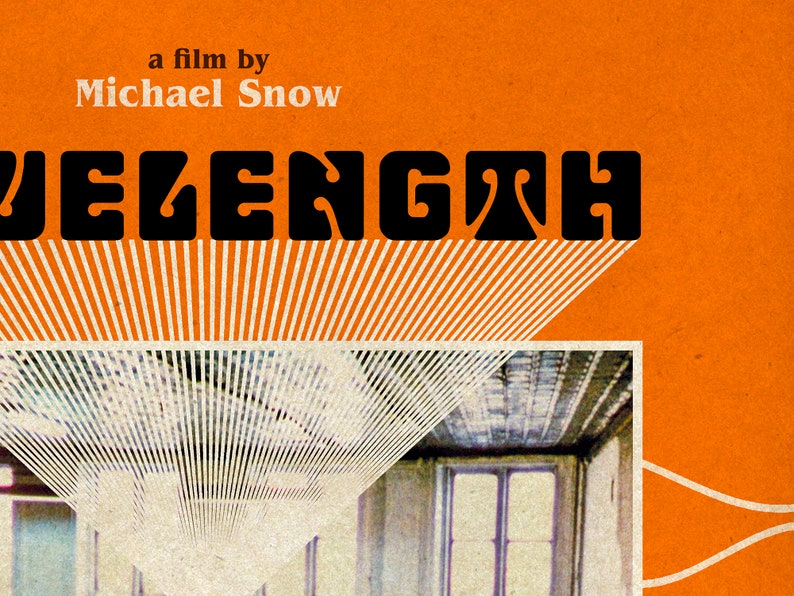 Wavelength Michael Snow Arthouse Film Poster Classic One Sheet