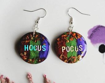 Hocus Pocus Earrings, Halloween Earrings, Handmade Earrings, Halloween Earrings UK, Sterling Silver Earrings, Halloween Jewelry,