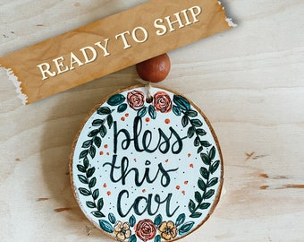 Car Charm // Ready to Ship // car diffuser // tassel charm // wood slice ornament