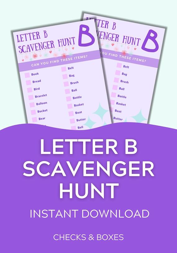 Scavenger Hunt For Preschoolers Printable Rainy Day Activity