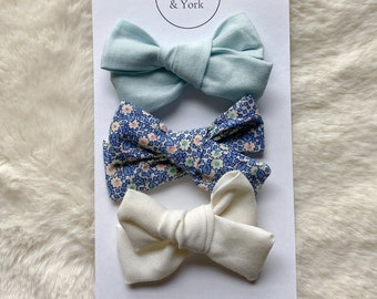 Nylon Bow Regular Antique Floral : Floral Bow Yellow Polka Dot Bow Teal Bow Ombr\u00e9 Bow