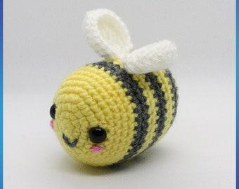 Crochet bee, Happ-Bee, Happy, Bumble Bee, Bee, Nature, Key chain, key ring, bag charm, bumbles, buzy bee, buzz,