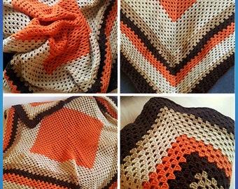 Crochet Blanket Breaking Bad TV Show Granny Square blanket handmade