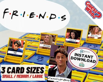 Friends Guess Who Game Cards   Printable Game Pieces for Guess Who Board Game   Custom Guess Who Friends Edition   Quarantine Fun Party Game