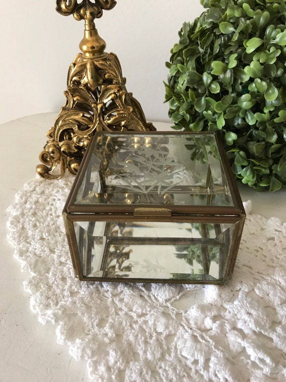 Victorian Brass Trinket Powder Box