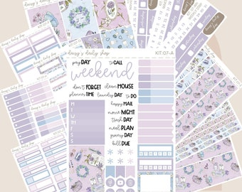 Matte Planner Stickers  Perfect for your Erin Condren Life Planner  WKH0340 All Hallows HORIZONTAL Weekly Kit  130