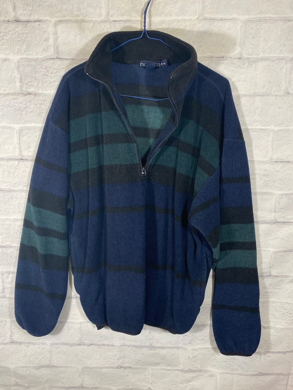 Vintage 90s Nautica quarterzip fleece sweater