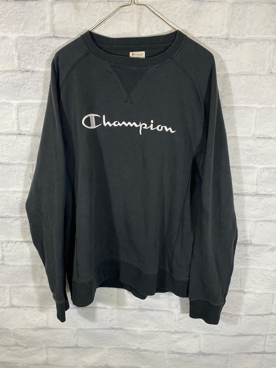 Vintage 90's Champion stitched big logo cruneck sw