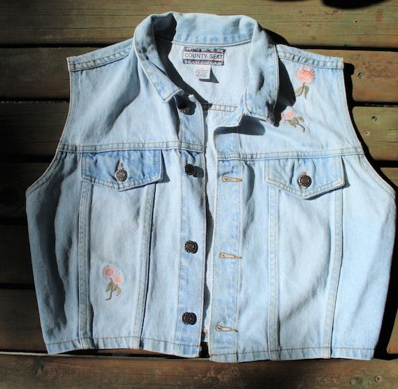 Vintage Denim Vest// Vintage Vest - image 1