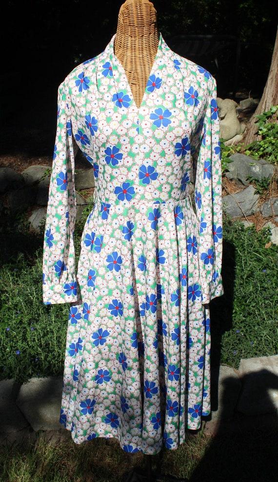1960's Long Sleeve Dress // Vintage Long Sleeve Dr