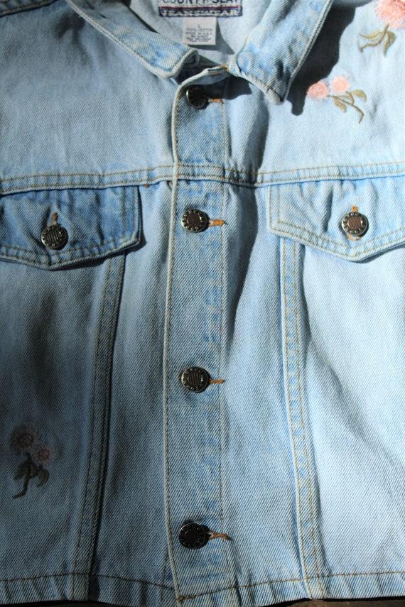 Vintage Denim Vest// Vintage Vest - image 5