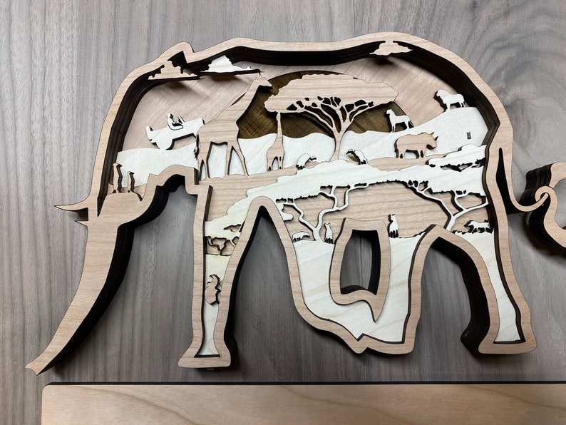 Digital File 5 Layer Elephant Art Piece