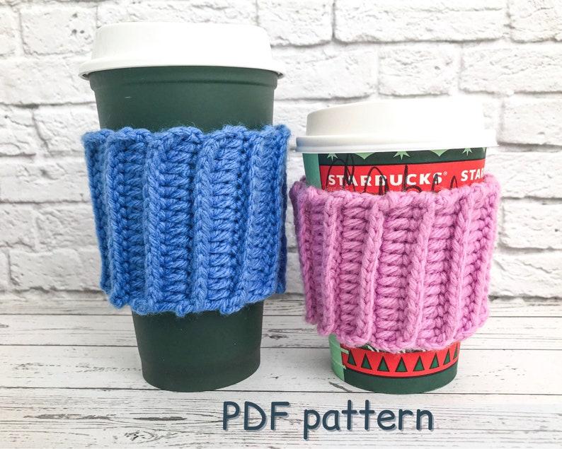 CROCHET PATTERN cup cozy mug warmer to go starbucks sleeve image 0