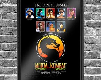Mortal Kombat Magazine Ad (1993) - 18x24 Poster.