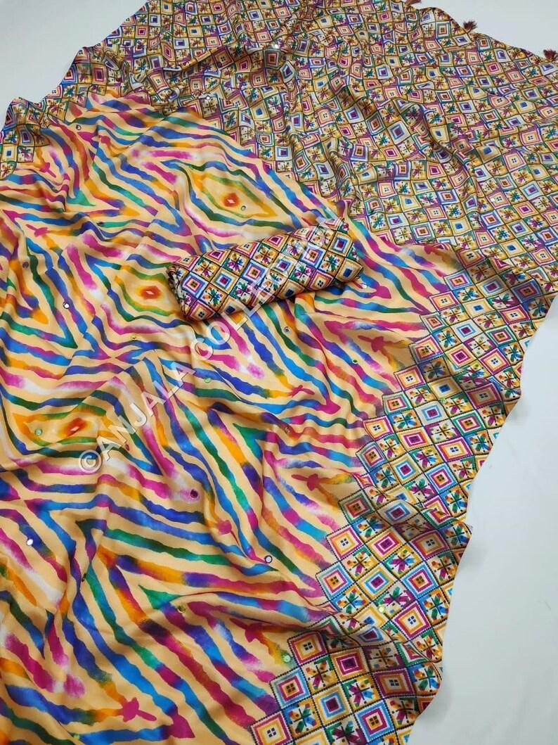 Jute Cotton Saree,Digital Printed Saree with unstitched Contrast blouse,Cotton Saree,Handloom Saree