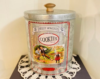 Set of 2 Cap-Tins Canisters Made in England by The Tin Box Co.Collectible Tea Tin