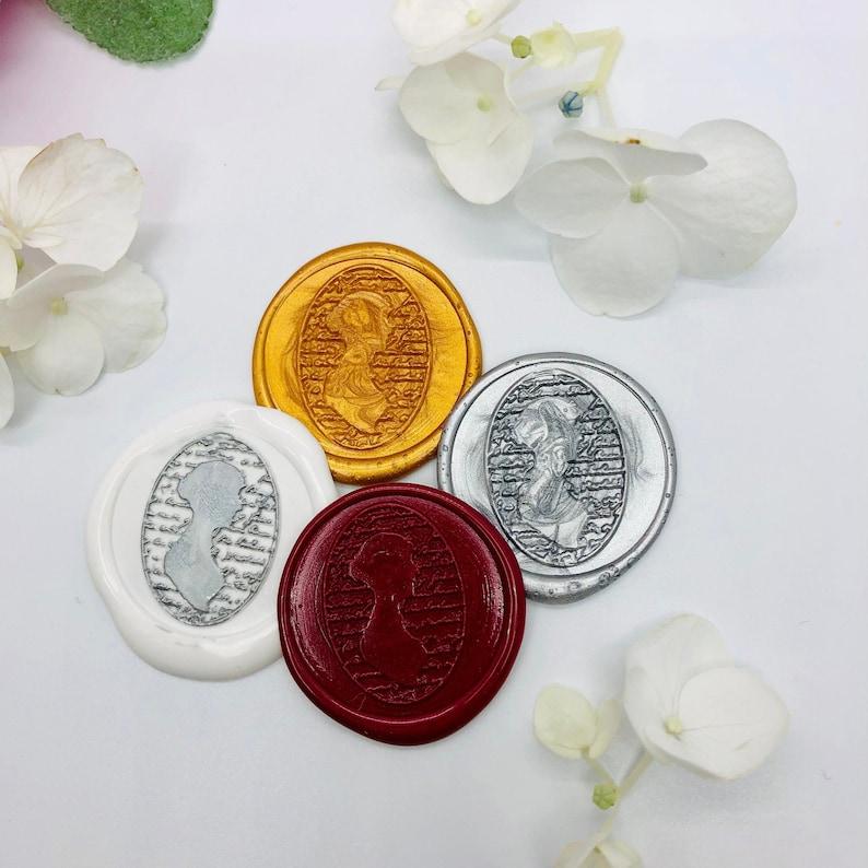 Self Adhesive Wax Seals Jane Austen Wax Seals Adhesive backing Wax Seals  Set of 25 in Vintage Colors 25 Pack