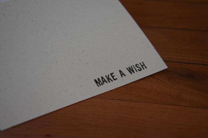embossed stamped Birthday card Make A Wish handmade