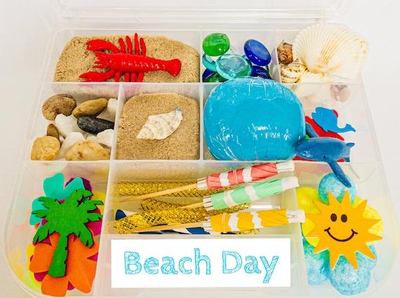 Beach & Summer Sensory Kit  Sensory Bin  Summer Playdough