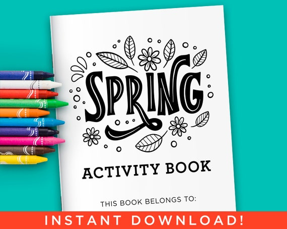Spring Activity Coloring Book for Kids