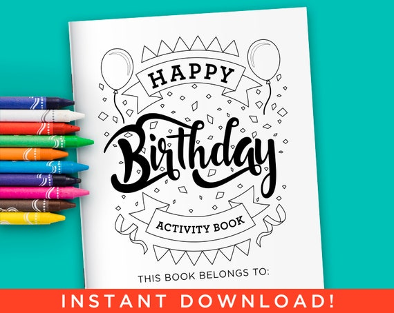 Happy Birthday Activity Coloring Book for Kids