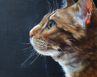 Cat portrait! Pet portrait, cat portrait, hand painted art, cat, art