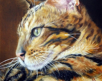 Custom oil painted portrait of your pet (cat, dog, another animal)