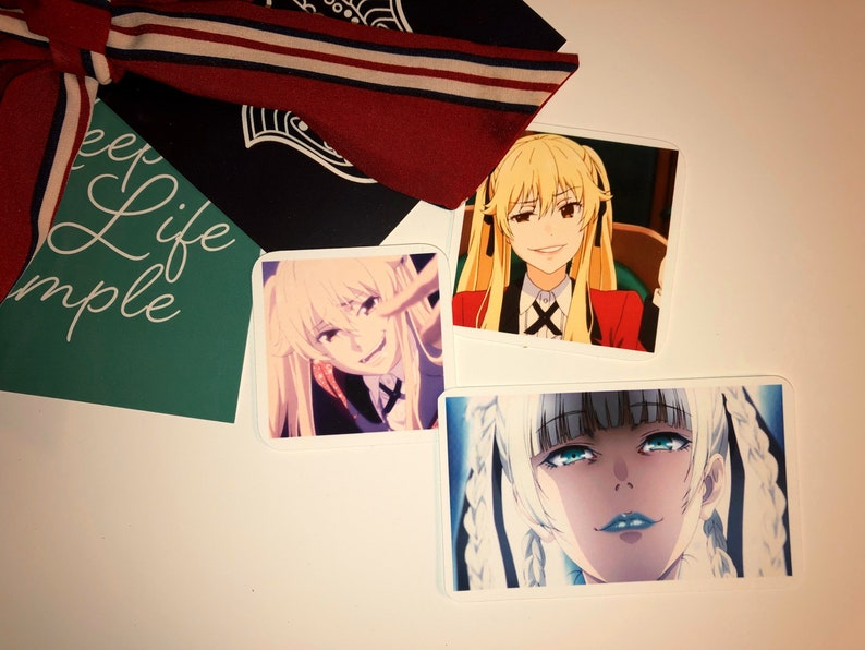 Kakegurui compulsive gambler sticker set anime sticker set jabami Yumeko Mary Saotome kirari Momobami laptop stickers