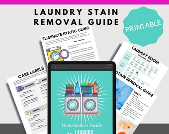Printable Laundry Stain and Symbol Guide