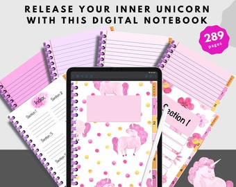 Digital Notebook Perfect For Students and Unicorn Lovers