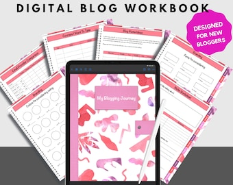 New Bloggers Planner and Workbook Designed For New Bloggers