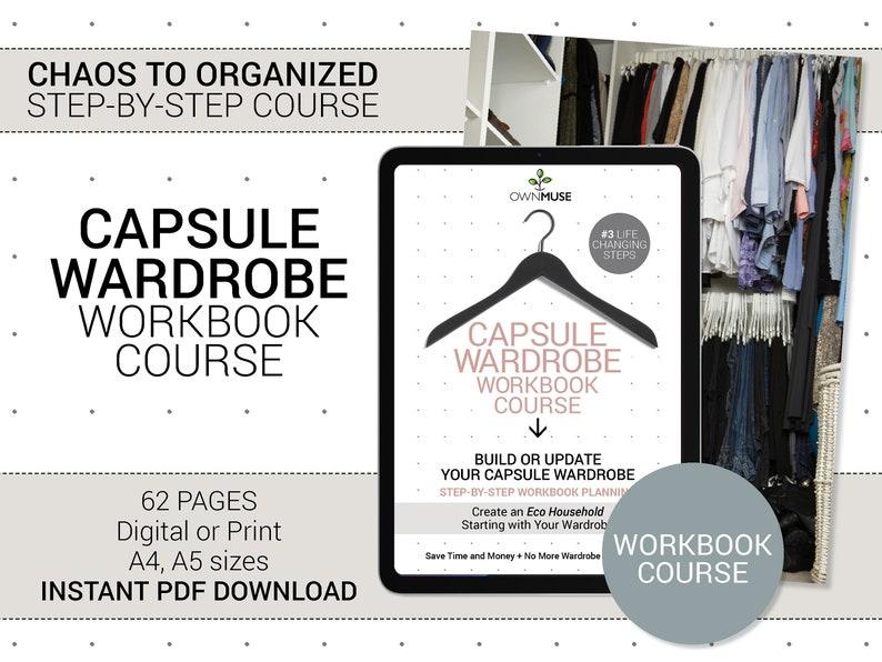 Capsule Wardrobe WORKBOOK COURSE  Closet Organizing image 0