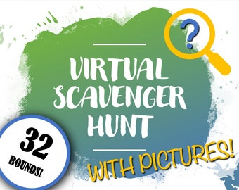 Virtual Scavenger Hunt With Pictures & Scoreboard | PowerPoint Game | Zoom Party Game | Indoor Game For Kids | Online School Activity