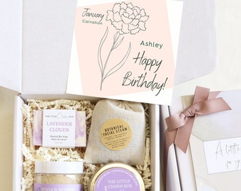 Birth Flower Birthday Gift Box, Birthday Gift Ideas, Birthday Gift For Best Friend, Birthday Gift For Her, Birthday Gift - Birthflower