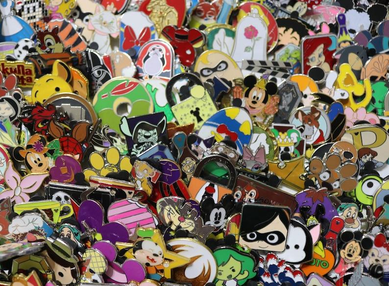 50 Disney Trading Pins No Duplicates Random Bundle Guaranteed image 1