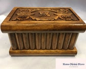 Jewelry Box,dowry chest,Magic chest with secret compartment embroidered in walnut wood,Wooden Design,Personal