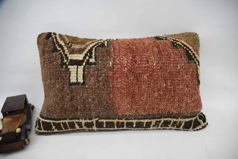 Corner Case Pillow Cover Bench Case Turkish Pillow 12x20 Red Cushion Handmade Pillow Ethnic Cover Rug Pillow Home Decor Pillow 66