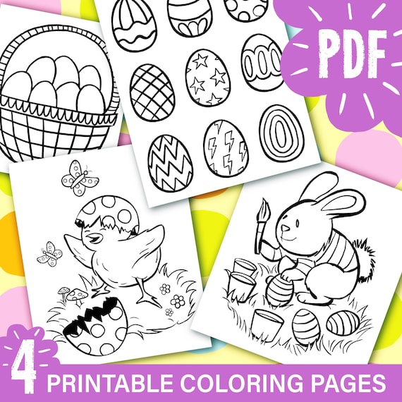 Printable Spring Coloring Pages Cute Bunny Cute chick