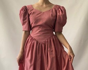 Gorgeous pink pastel party prom dress, amazing vintage retro gown