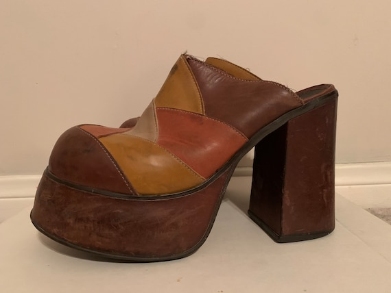 Mens 1970s Platform Clogs