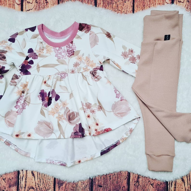 tunic rip jersey leggings jersey Set of tunic and leggings in size 80